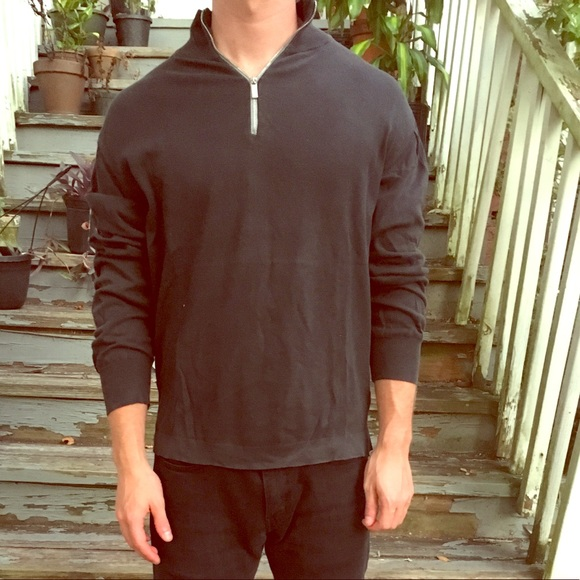 Why Its Good To Pull Over To Side Of >> Shirts Zegna Sport Half Zip Pull Over Sweater Black Poshmark